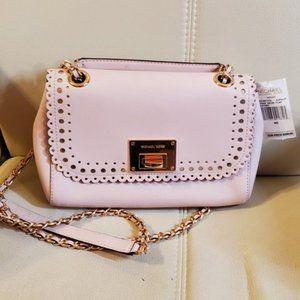 NWT Michael Kors VIVIAN Violet  leather purse bag